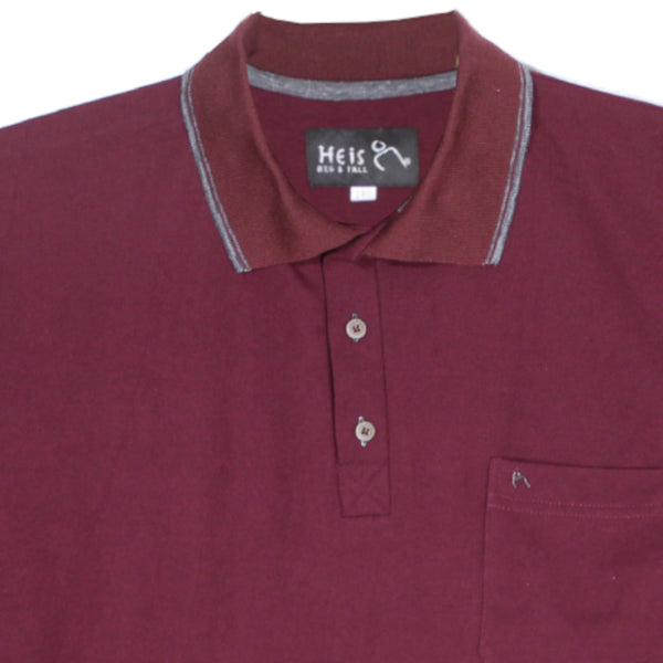dromstore, Playera Tipo Polo BIG&TALL Talla Extra Modelo HEI258 Vino, BIG & TALL SHOP