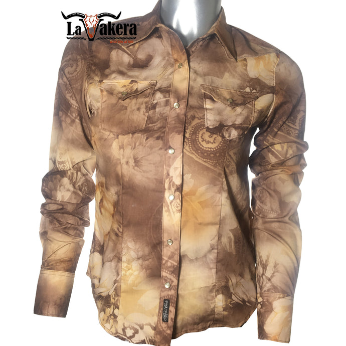 dromstore, Blusa Vaquera Modelo ROC411 CAFE CHOCOLATE, LA VAKERA SHOP