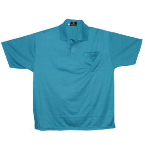 dromstore, Playera Tipo Polo BIG&TALL Talla Extra AZUL Modelo MAN685, BIG & TALL SHOP, PLAYERA POLO TALLA EXTRA.