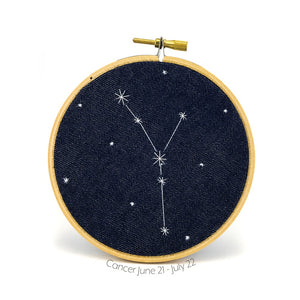 Zodiac Hoop - Cancer