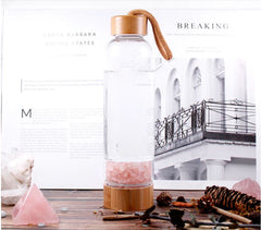 water bottle crystal infused