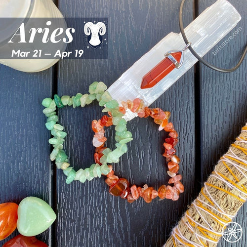 Aries Zodiac Crystal bundle