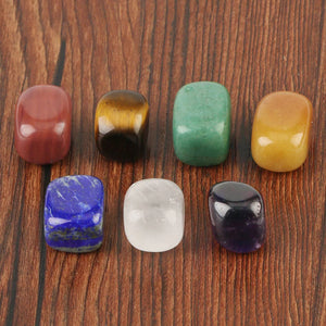 7 Chakras Crystal Tumbles Set + Gift box