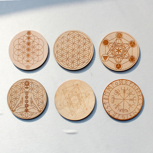 Wooden Crystal Grids  - 10 cm