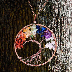 7 Chakras Tree of Life Pendant