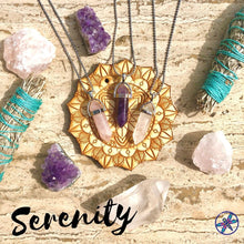 Serenity Crystal Bundle - Amethyst, Rose Quartz & Clear Quartz