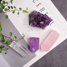 Serenity Dreams Set - Amethyst, Rose Quartz & Clear Quartz 4pc.