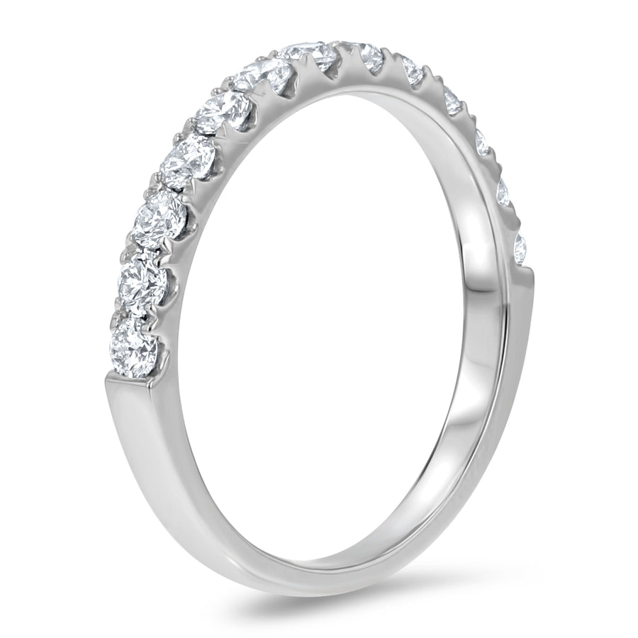 Half Way Diamond Wedding Band, 0.61 ct - R&R Jewelers