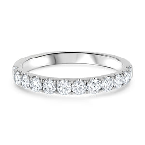 Halfway Scalloped Diamond Pavé Band - R&R Jewelers
