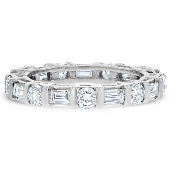 Baguette and Round Diamond Eternity Band - R&R Jewelers