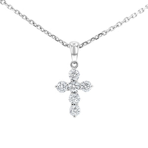 Round Brilliant Diamond Cross, 0.42 Carats - R&R Jewelers