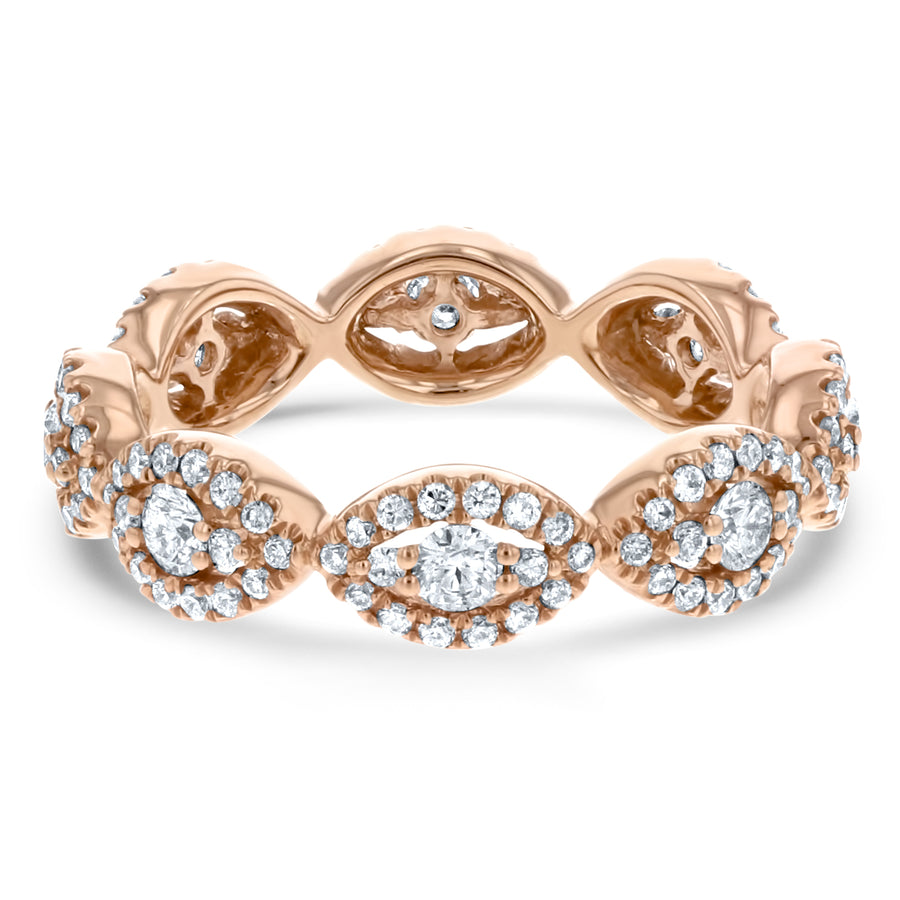 Diamond Cluster Eternity Band - R&R Jewelers