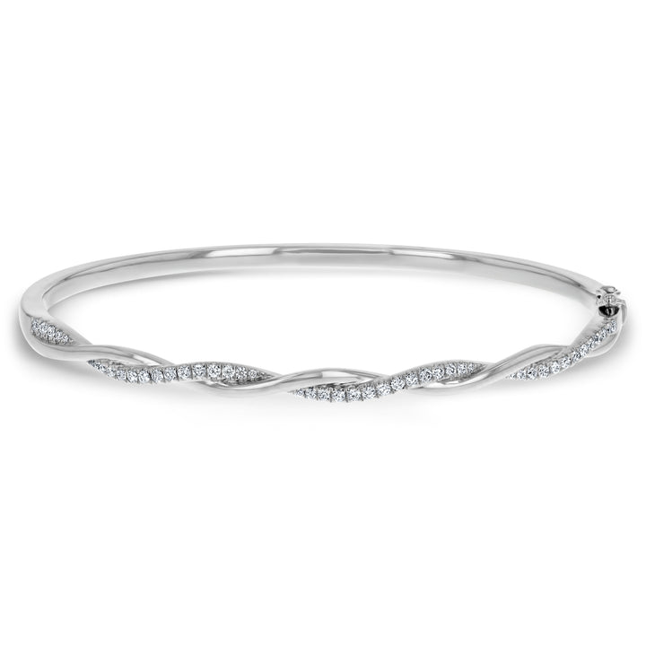 Diamond Twist Bangle - R&R Jewelers