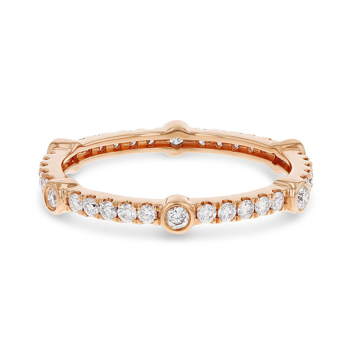 Diamond Rose Gold Eternity Band, 0.51 Carats