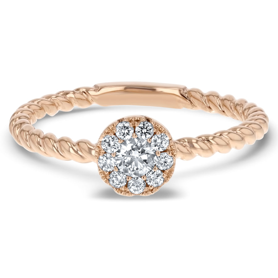 Floral Diamond Twist Band - R&R Jewelers