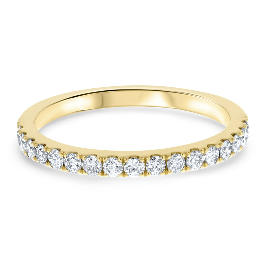 Halfway Scalloped Diamond Band - R&R Jewelers