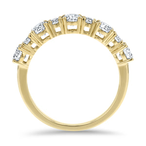 Alternating Diamond Open Basket Halfway Band - R&R Jewelers