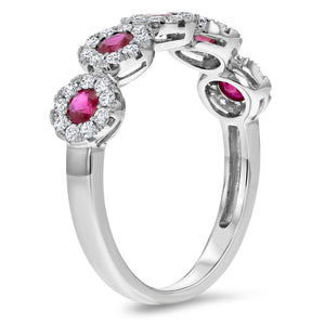 Diamond and Ruby Illusion Ring - R&R Jewelers