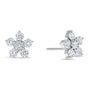Diamond Flower Stud Earrings - R&R Jewelers