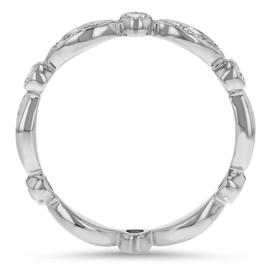 Art Deco Diamond Eternity Ring - R&R Jewelers