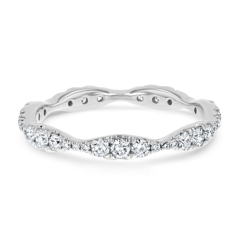 Waved Diamond Eternity Band - R&R Jewelers