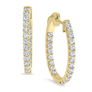 Inside Out Diamond Hoop Earrings, 0.98 ct - R&R Jewelers