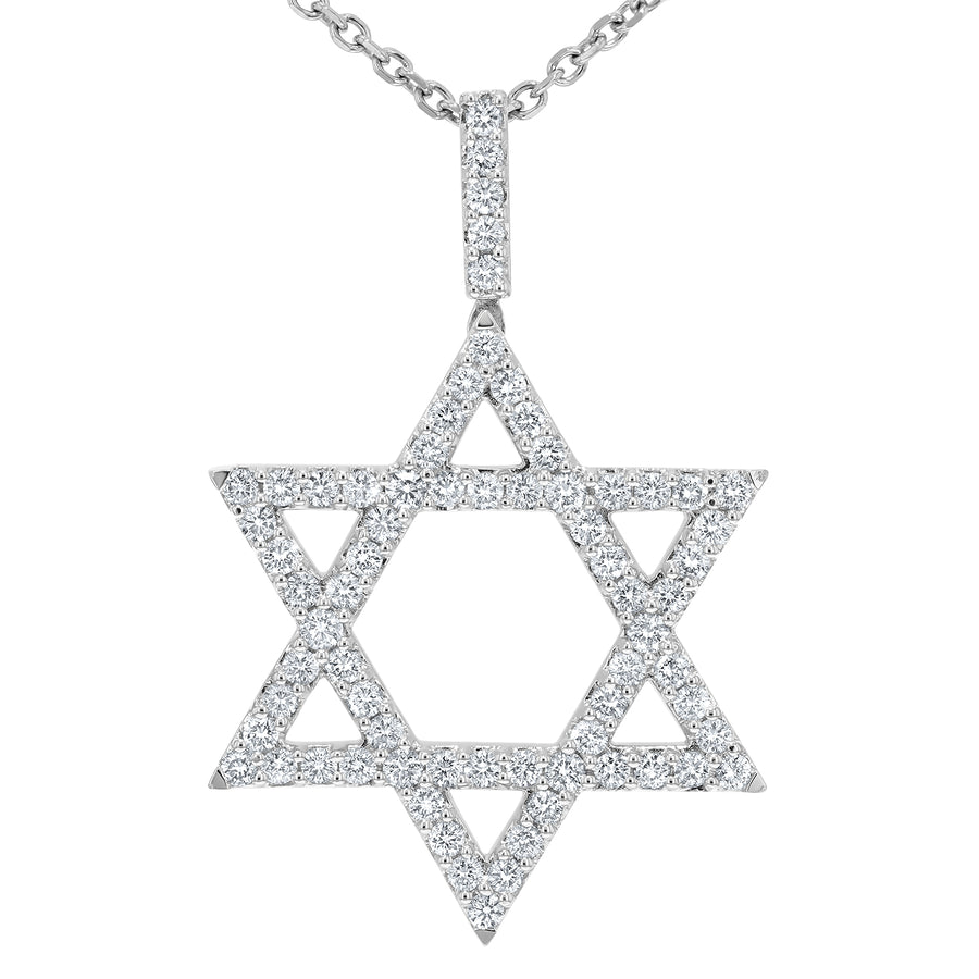 Diamond Star of David Pendant - R&R Jewelers