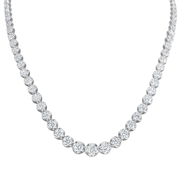 Round Brilliant Graduated Diamond Necklace - R&R Jewelers
