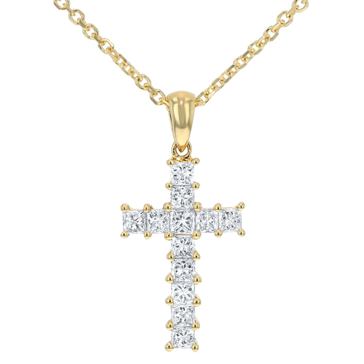 Princess Cut Diamond Cross - R&R Jewelers