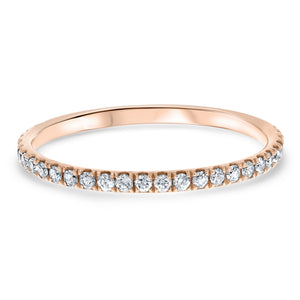 Petite Diamond Wedding Band, 0.25 Carats - R&R Jewelers