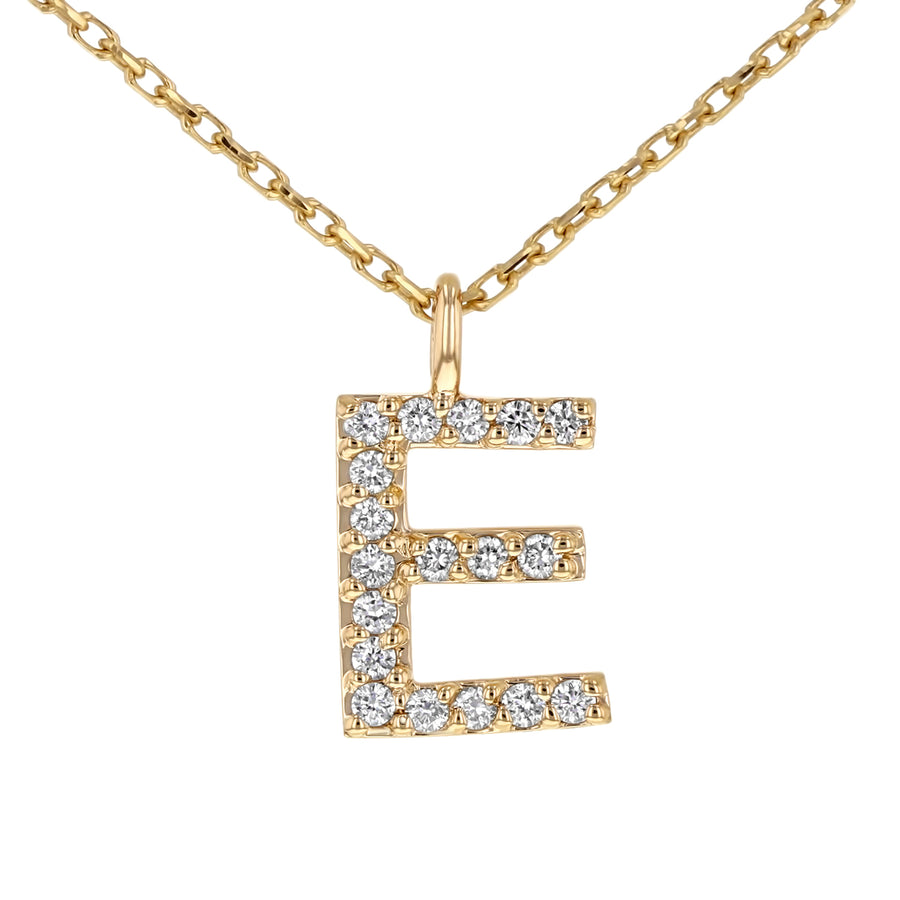 Initial Pendant in 14K Gold - With Diamonds - R&R Jewelers