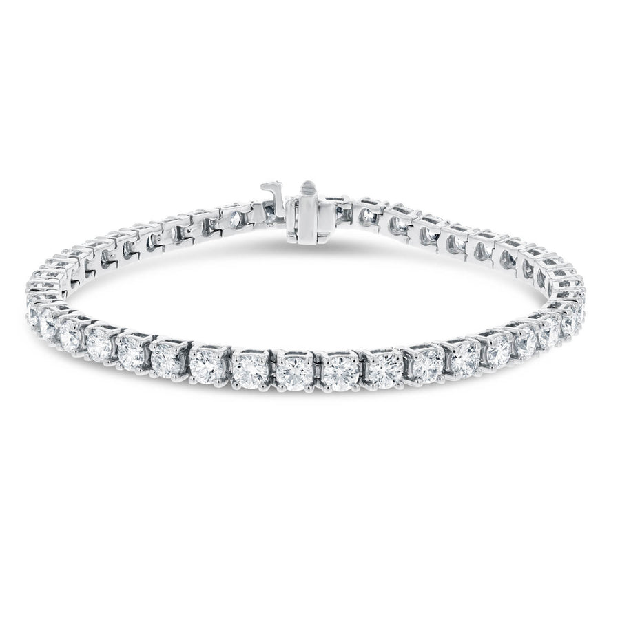 18K White Gold Diamond Tennis Bracelet, 12.15 Carats