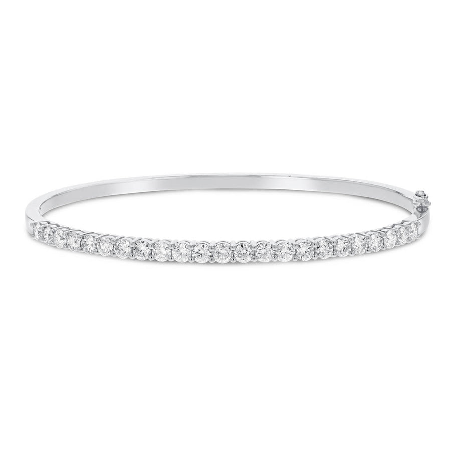Round Brilliant Diamond Bangle - R&R Jewelers