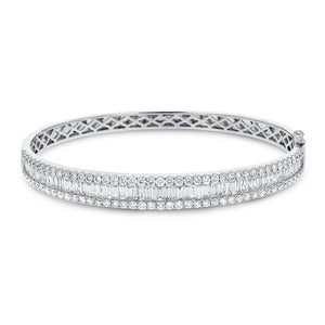 Baguette Diamond Bangle - R&R Jewelers