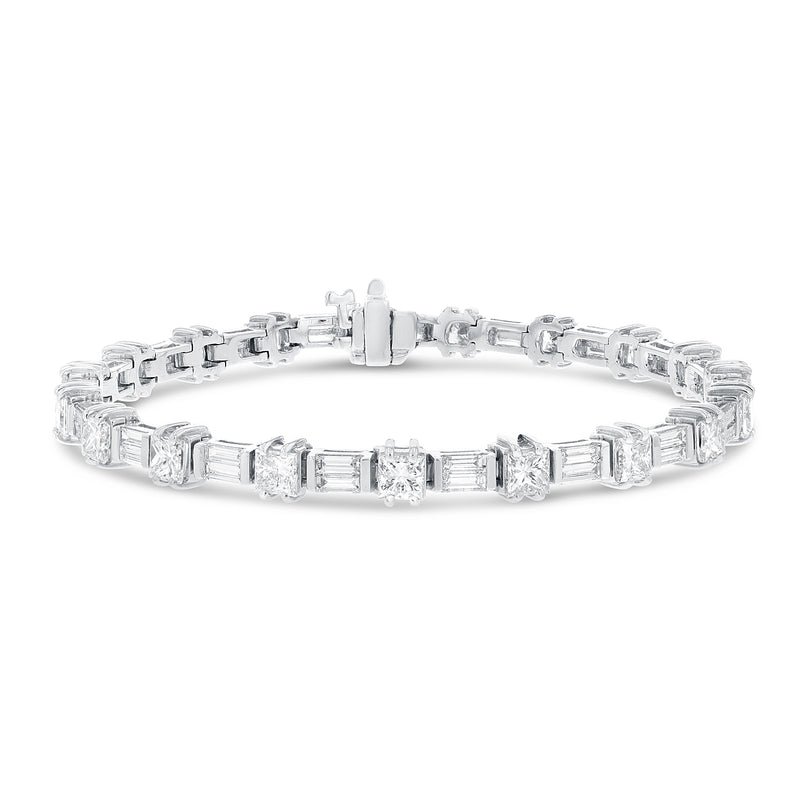 Round and Baguette Diamond Bracelet - R&R Jewelers