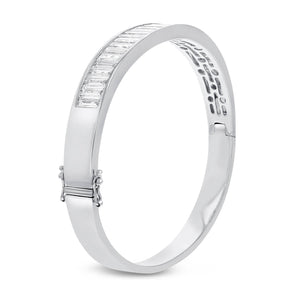 18K White Gold Diamond Bangle, 5.52 Carats - R&R Jewelers