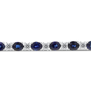 Alternating Diamond and Sapphire Bracelet - R&R Jewelers
