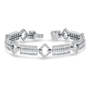 18K White Gold Diamond Bracelet, 6.98 Carats - R&R Jewelers
