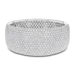 18K White Gold Diamond Bangle, 30.82 Carats - R&R Jewelers