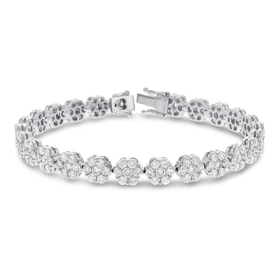 18K White Gold Diamond Bracelet, 7.58 Carats - R&R Jewelers