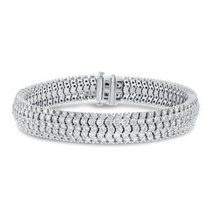 18K White Gold Diamond Bracelet, 11.75 Carats - R&R Jewelers