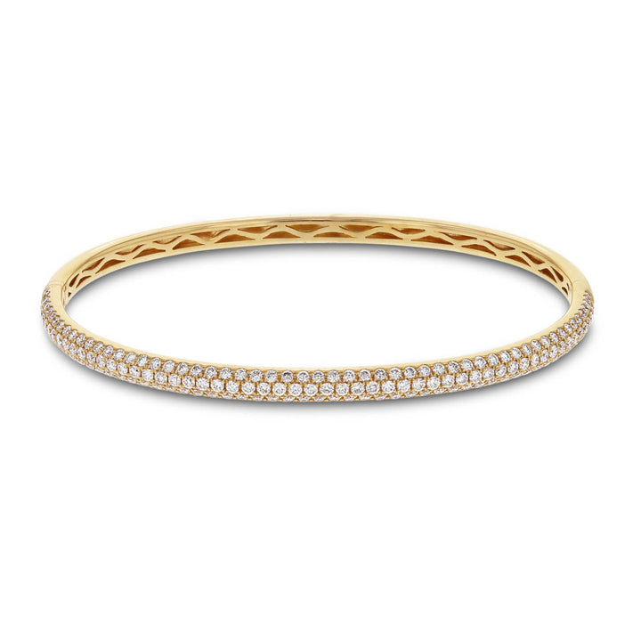 18K Rose Gold Diamond Bangle, 1.89 Carats