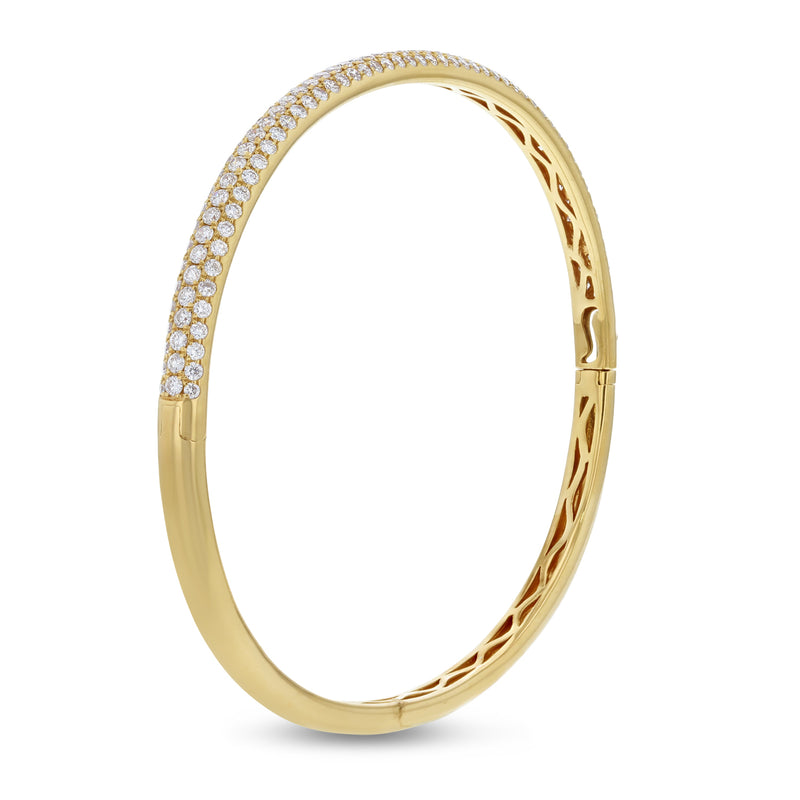 Three Row Diamond Bangle, 1.89 Carats - R&R Jewelers