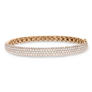 18K Rose Gold Diamond Bangle, 4.70 Carats