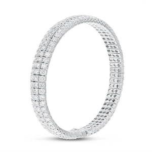 18K White Gold Diamond Bracelet, 9.86 Carats - R&R Jewelers