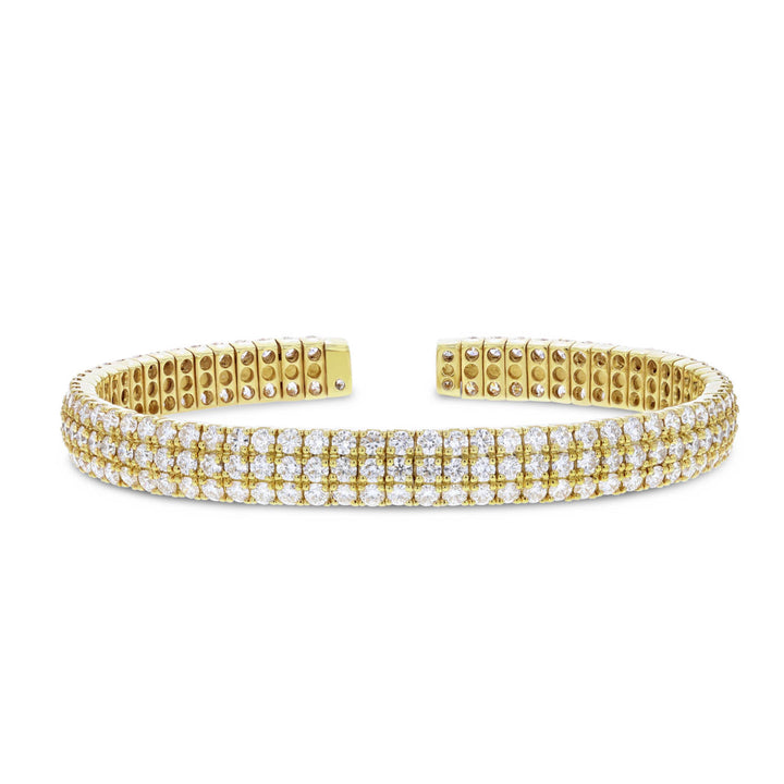 18K Yellow Gold Diamond Bangle, 9.25 Carats