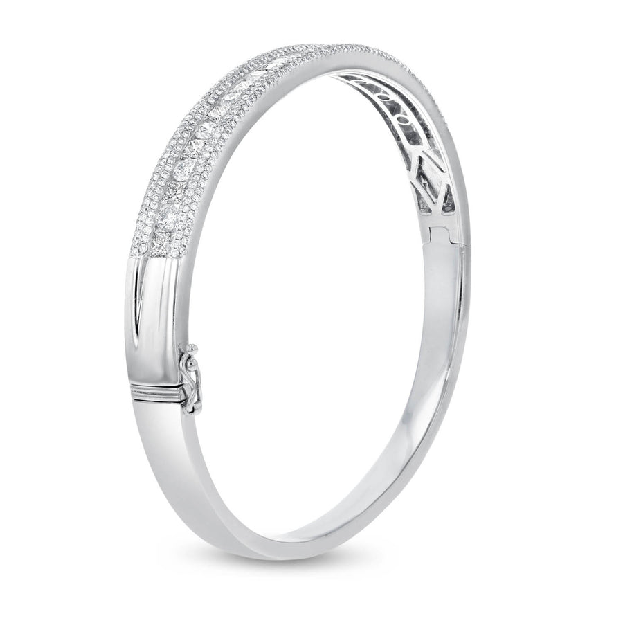 Channel Set Diamond Bangle - R&R Jewelers