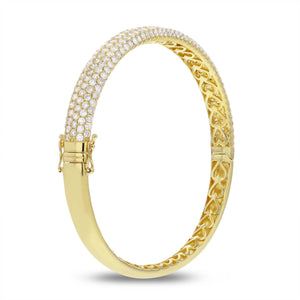 Five Row Diamond Bangle - R&R Jewelers