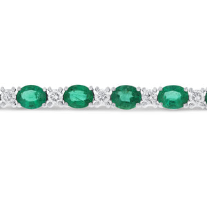 18K White Gold Diamond and Gemstone Bracelet, 12.83 Carats - R&R Jewelers