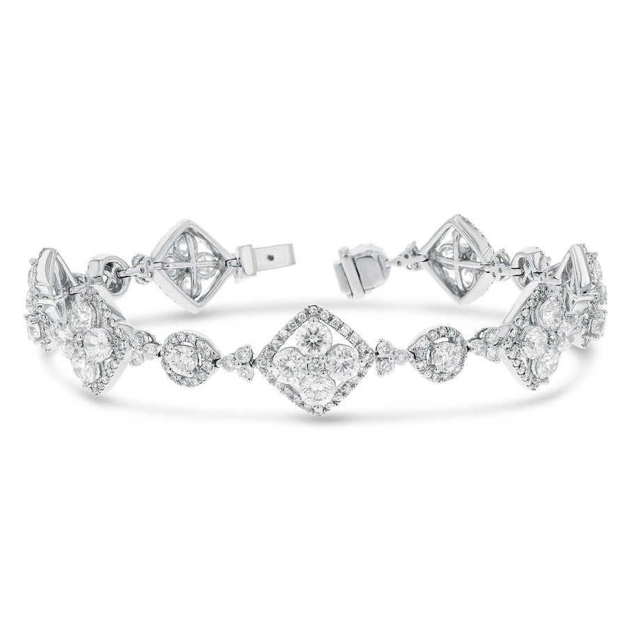 18K White Gold Diamond Bracelet, 8.55 Carats - R&R Jewelers